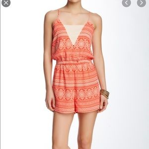 Romeo and Juliet Couture salmon/orange romper